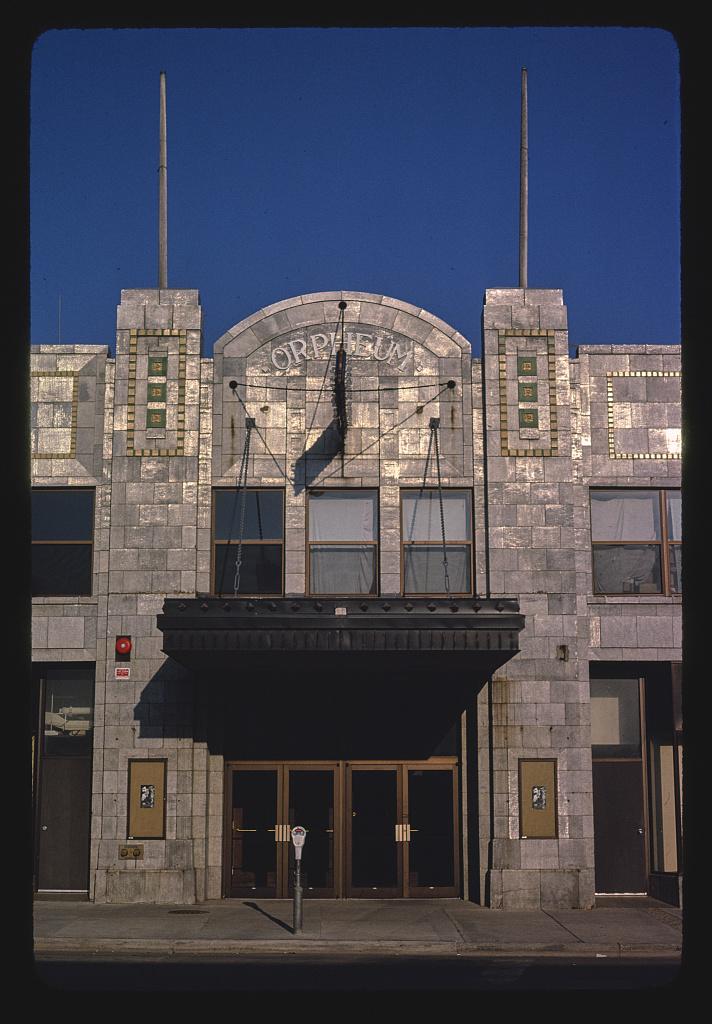 Orpheum Theater, straight-on detail, Phillips Avenue, Sioux Falls, South Dakota (LOC)