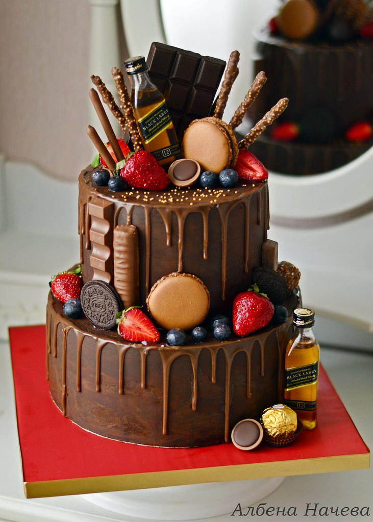 Enjoyable Strawberry Chocolate Cake Albena Nacheva Flickr Funny Birthday Cards Online Overcheapnameinfo