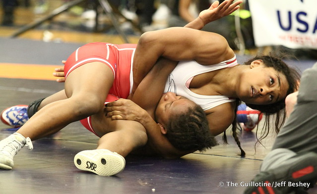 50 kg: Victoria Anthony (Sunkist Kids) vs. Erin Golston (New York AC). 180519BJF0221