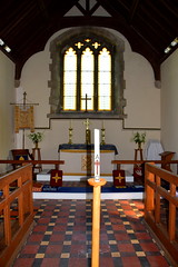 chancel and easter candle