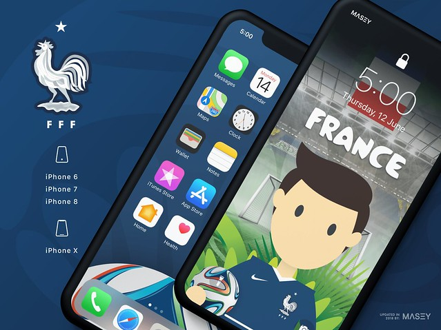 Team France iPhone Wallpaper