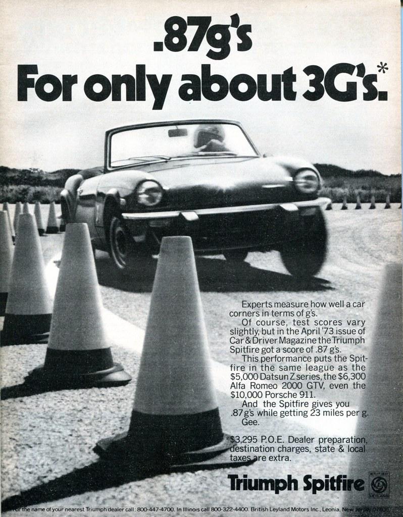 1974 Triumph Spitfire Advertising Road Track July 1974 Flickr