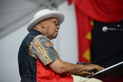 Ellis Marsalis on Day 7 of Jazz Fest - May 6, 2018. Photo by Leon Morris.