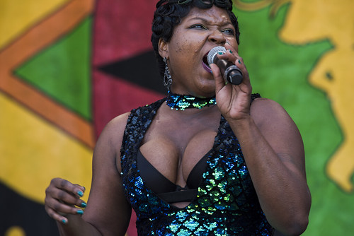 Sierra Green & the Soul Machine during Jazz Fest Day 7 on May 5, 2018. Photo by Ryan Hodgson-Rigsbee RHRphoto.com