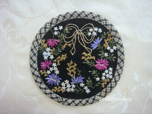Night Blooming Flowers Coaster | by Beelationship Embroidery Studio