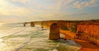 12 Apostles at sunset, Port Campbell National Park, Victoria, Australia