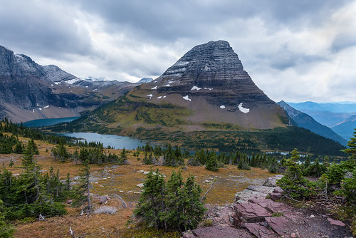 montana mountains kalispell glaciernationalpark nationalpark glacier hiddenlake autumn clouds country rocks nikon d800e