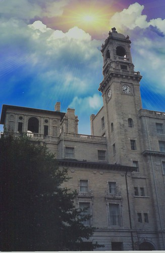 henricocounty sky clouds sunset richmond va virginia historic jefferson hotel tower clock exterior facade luxury onasill old vintage photo 1895 nrhp register america nationaltrust preservation nthp lemaire restaurant attraction site