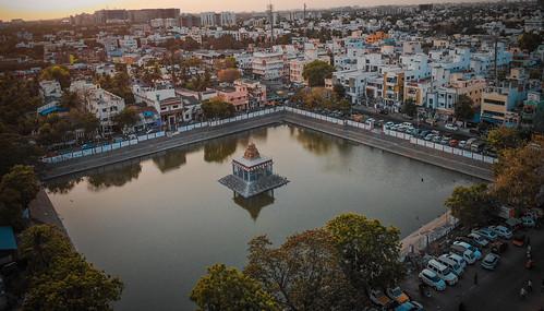 drone chenna chennai thiruvanmiyur urban buildings temple