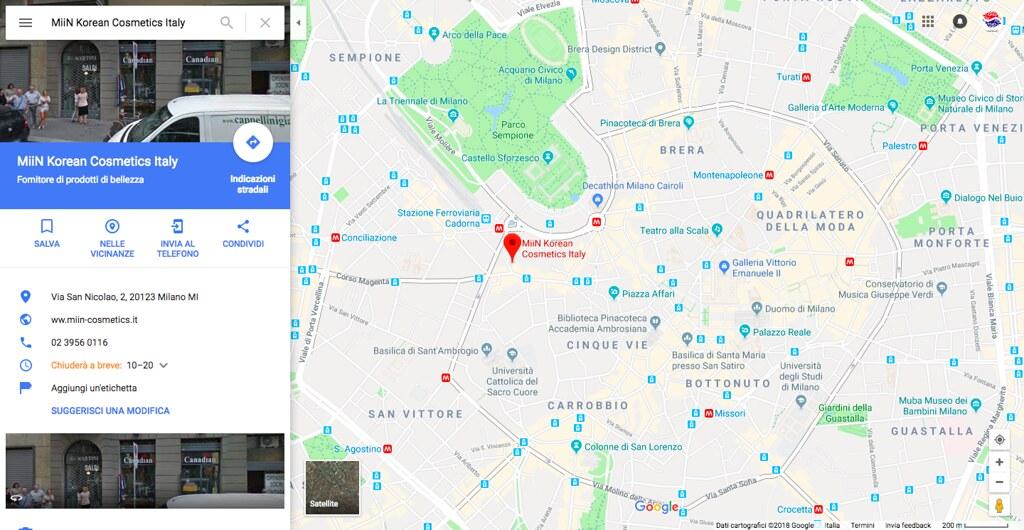 MiiN Korean Cosmetics Italy Google Maps | Mugunghwa Dream ... on atlas map of korea, printable map of korea, global map of korea, satellite map of korea, satellite view of korea, latitude of korea, political map of korea,