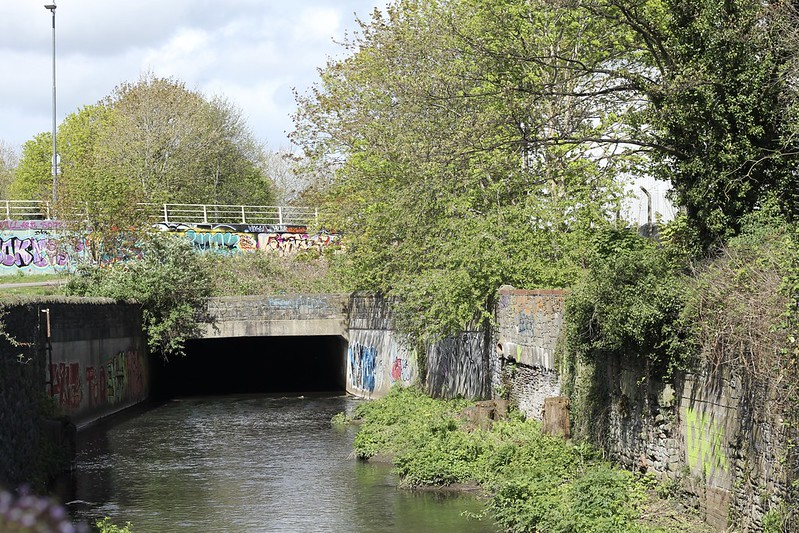 The Frome comes out from under the M32