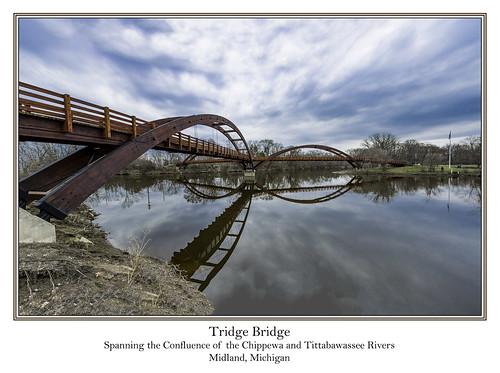 midlandmichigan tridgebridge chippewariver tittabawasseeriver reflections michiganrivers panoramicstitch reflection tomclarknet tacphotography 2018 2018yip d7100 1000views