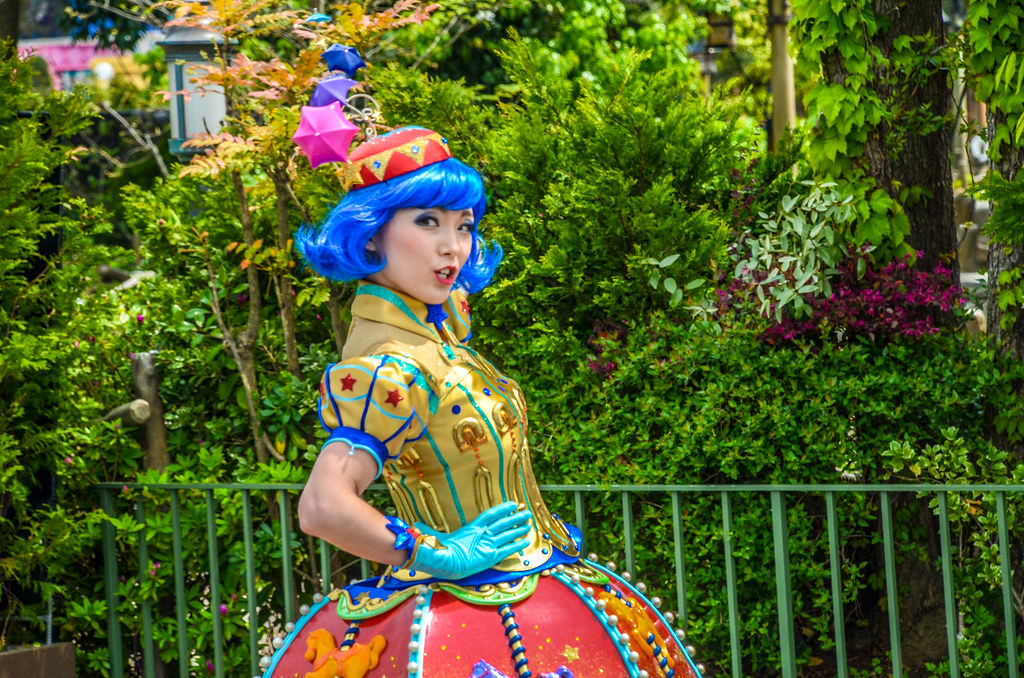 Dream Up blue haired girl TDL