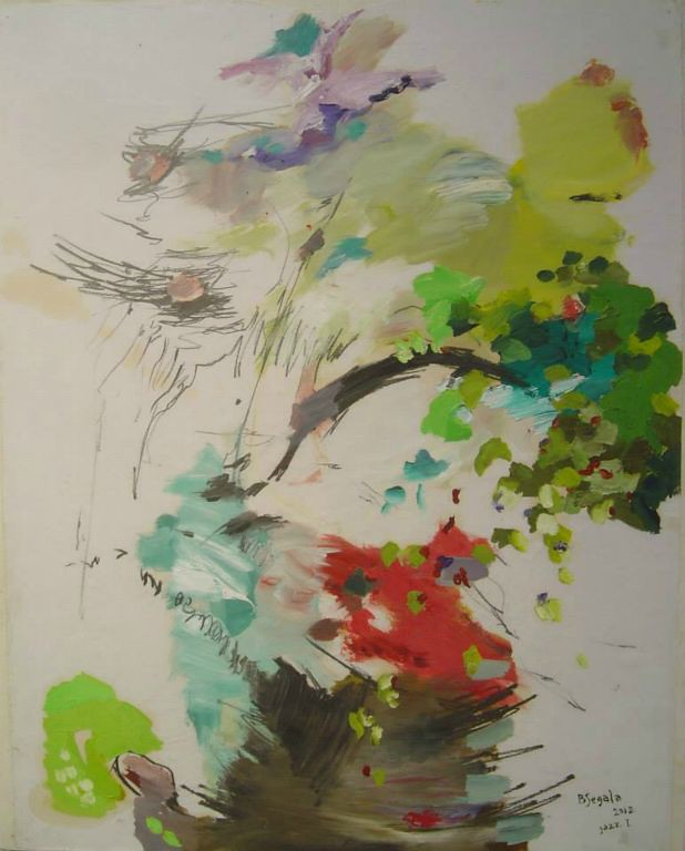 Jazz I - 73x60 cm Oil on paper 2012