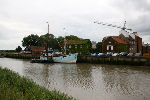 Snape Maltings and the river Alde