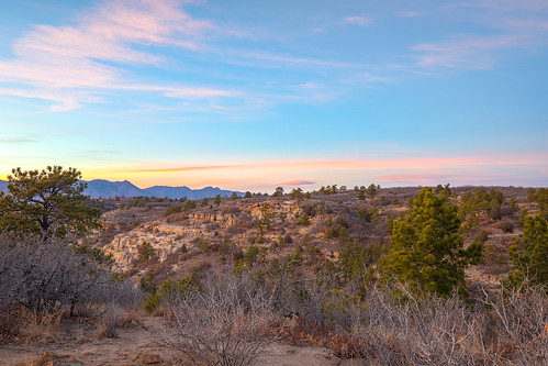 photosbymch landscape sunset desert palmerpark coloradosprings colorado usa canon 5dmkiv 2017 hdr composite trees brush rocks outdoors