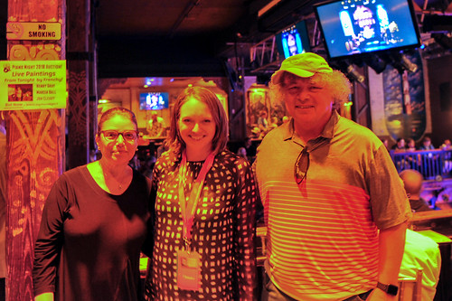 Michele and Jeffrey Goldfarb with Melanie Merz (center) WWOZ's 30th Annual Piano Night - April 30, 2018. Photo by Michael E. McAndrew Photography.
