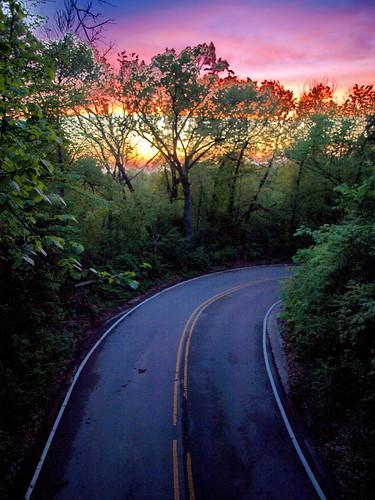 sunset starvedrock illinois ccloudsstormssunsetssunrises twilight