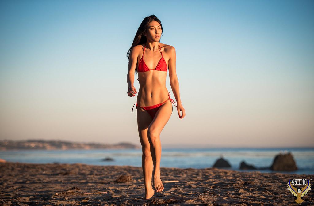 Pretty Woman! Beautiful Asian Bikini Model Beach Goddess ...