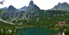 Zelene pleso and Brncalova mountain hut, Belianske Tatra Mountains, Slovakia