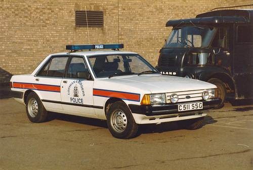 Ford Granada 2.8 carburettor C511 SSG 'ZH T11' Lothian & Borders Traffic Dept HQ, Fettes 1985 | by landshark2084