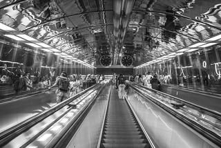 Subway Escalator at Helsinki Railway Station