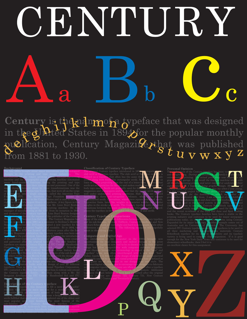 Century typography poster | This typography poster was creat