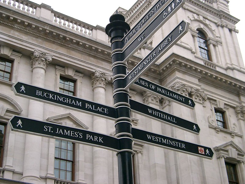 Signpost Near Buckingham Palace