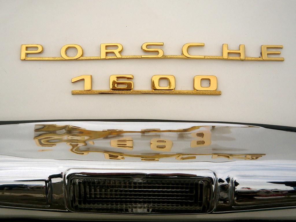 Vintage Porsche lettering   Manufactured in 1955, the back o