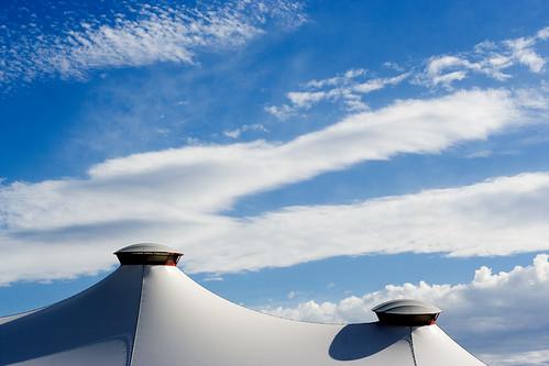 blue white clouds geotagged australia melbourne victoria tent flemington bigtop royalmelbourneshow geolat37782532 geolon144912527