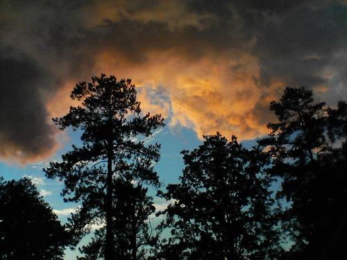 cameraphone sunset clouds alabama stormy buzzgrinder lgvx9800 rainbowcity