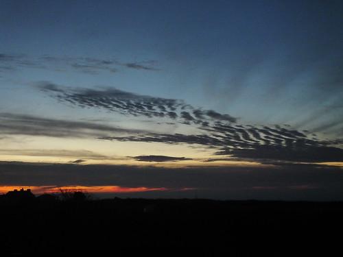 dawn sunrise mackerelsky portland dorset winter morning