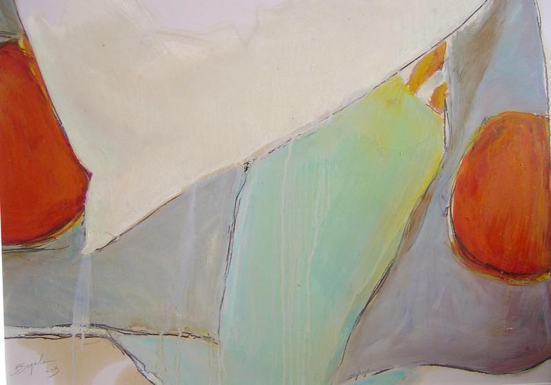 My butterfly - 50x70 cm. Oil on paper 2013