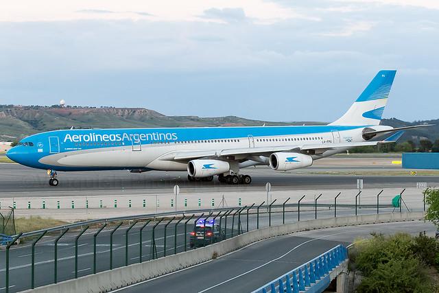 LV-FPU Aerolineas Argentinas A340-300 Madrid Barajas