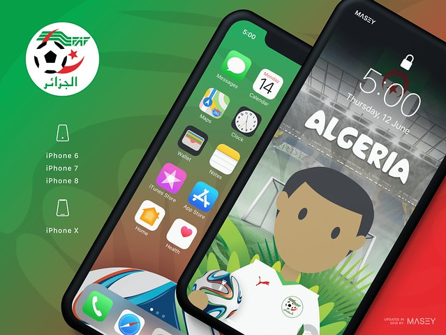 Team Algeria iPhone Wallpaper