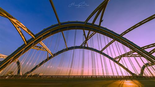 cầuđôngtrù sunbeam sunset samyang14mmf28 hdr panorama photography colorful bridge outdoor