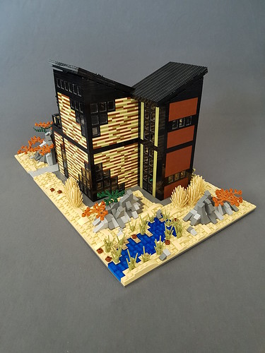Olive Sand House MOC | by betweenbrickwalls
