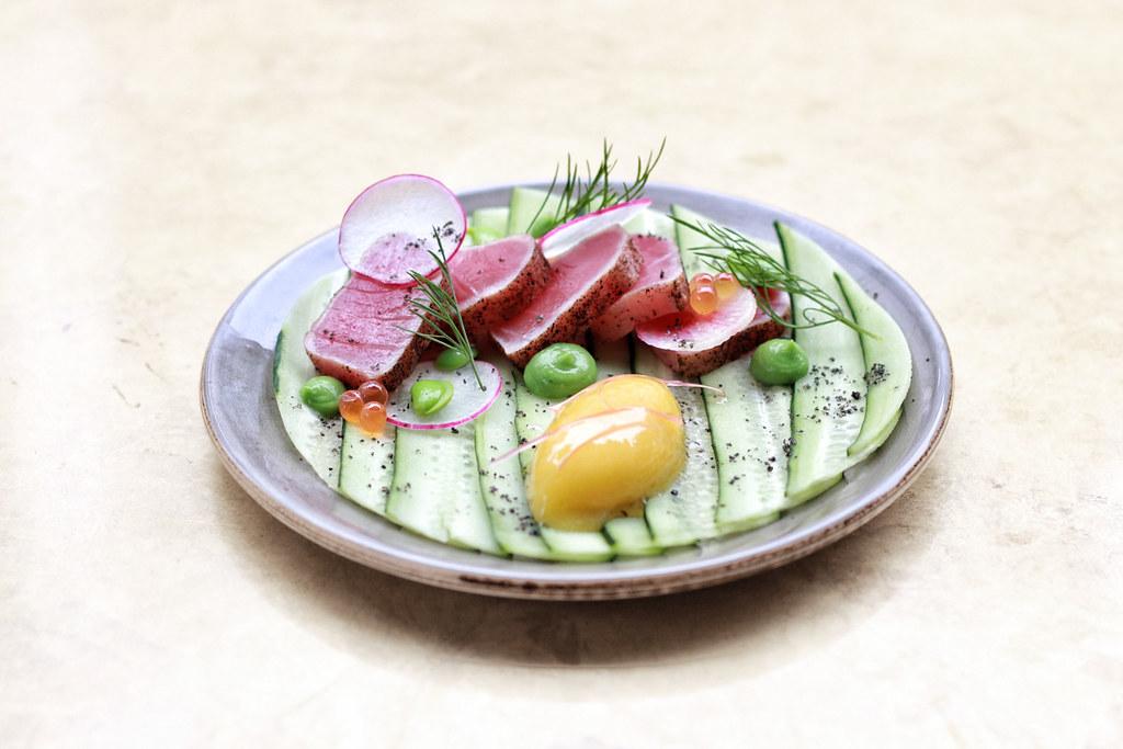 Tuna Tataki, Cucumber Carpaccio, Calamansi Sorbet_2