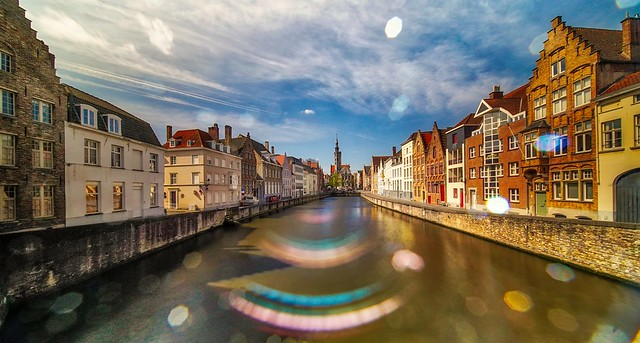 Bruges with Flare