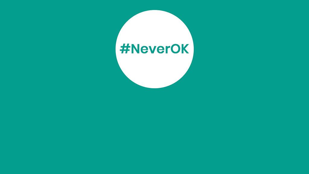 #NeverOk Logo