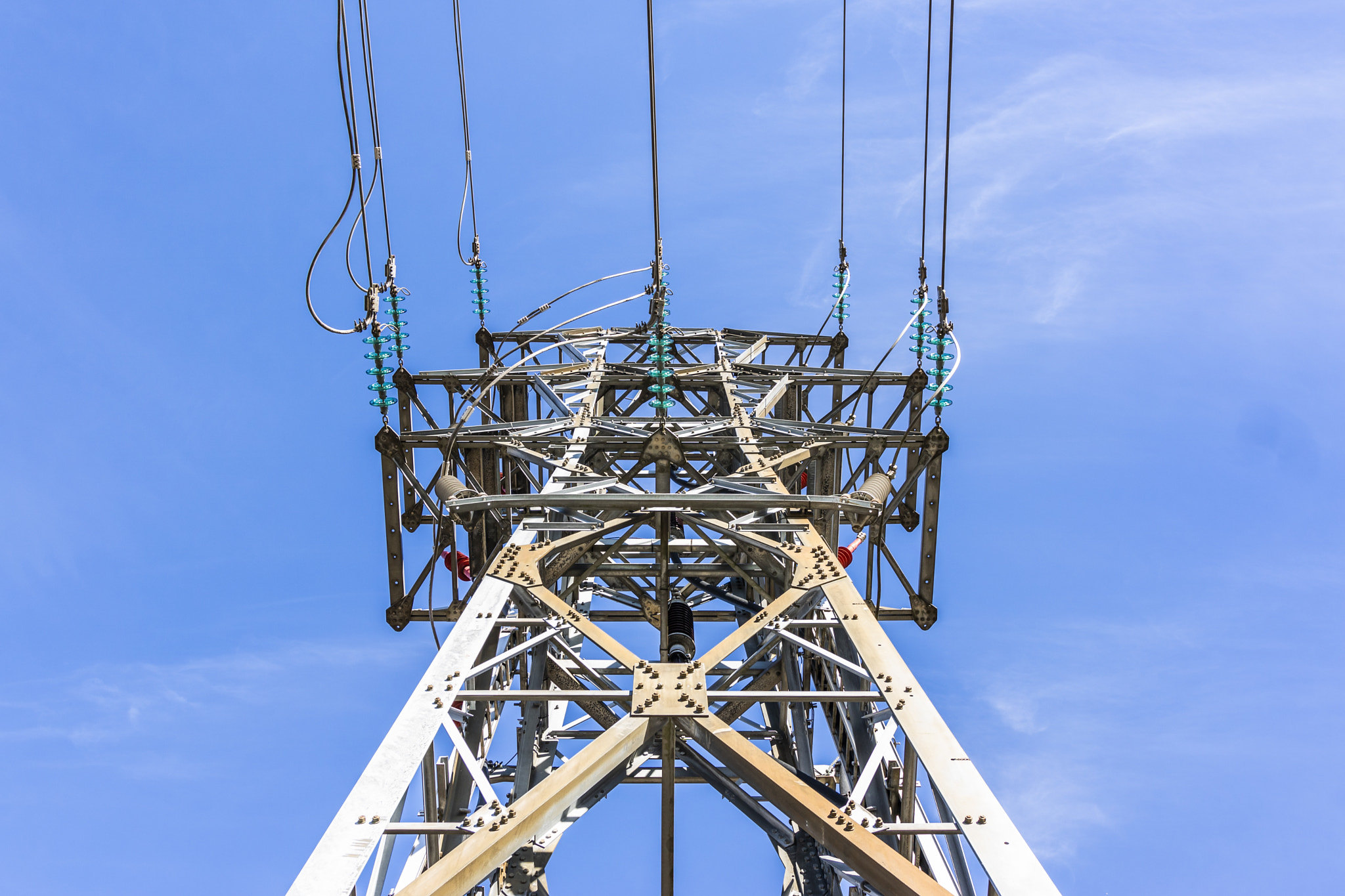 Transmission Tower from a low angle