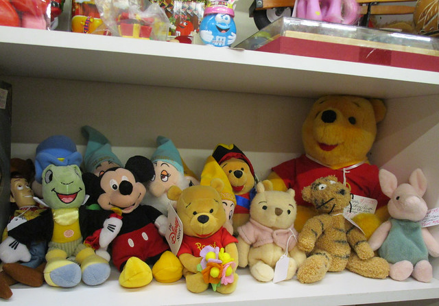Various Vintage Disney Stuffed Toys, Antique Trove, Scottsdale, AZ