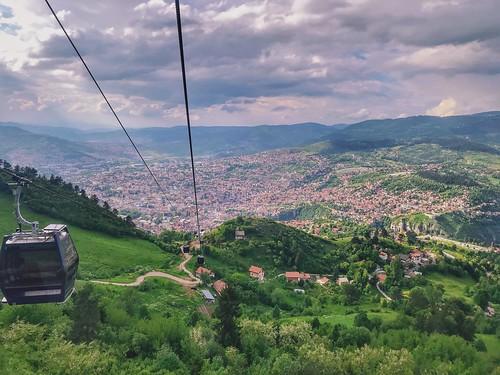 البوسنةوالهرسك bosnaihercegovina landscape maj 2018 جديد new iphone7plus التلفريك سراييفو uspinjača trebević žičara sarajevo
