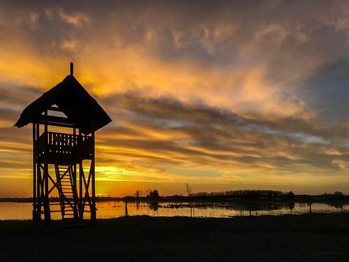 lake landscape sunset mórahalom hungary nagyszéksóstó