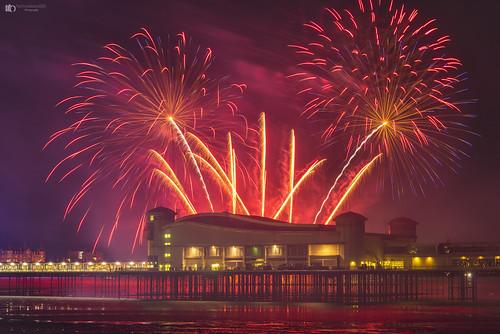 Weston pier fireworks display