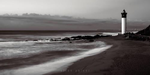 umhlanga durban seascape ocean water sand lighthouse 21 univisium shore horizon bw blackandwhite mono monochrome nikon d3400 outdoor photography sea sky beach coast