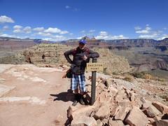 Grand Canyon - South Kaibab Trail, Damian at Skeleton Point