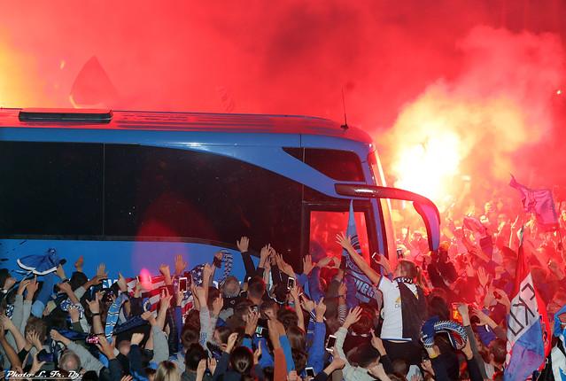 Aankomst spelersbus Brugge # KAMP15EN 343