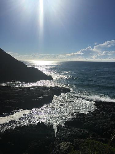 sunlight reflections rocks waves coastline seascape ocean ngc