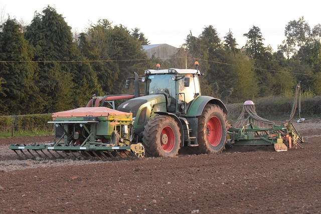 Fendt 936 Vario Tractor with an Amazone Airstar Avant Seed Drill